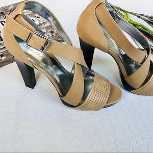 """Calvin Klein """"Sunshyne"""" Heeled Platform Sandals"""
